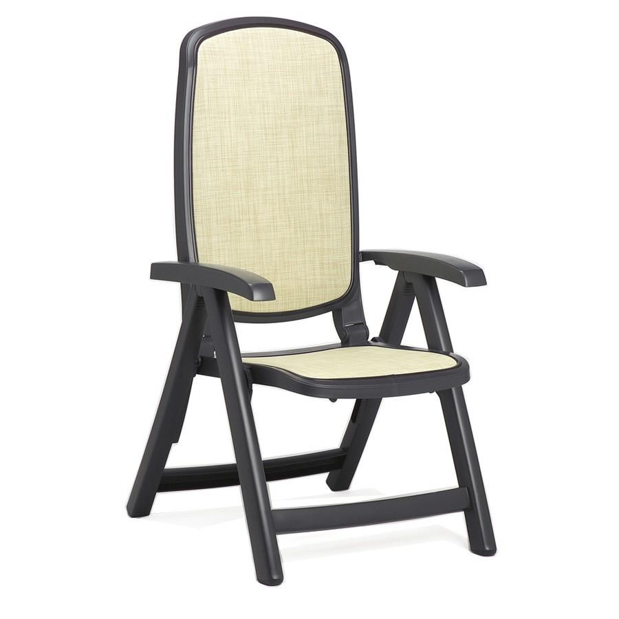 Sedia reclinabile in plastica per giardino delta nardi for Sedia a dondolo reclinabile