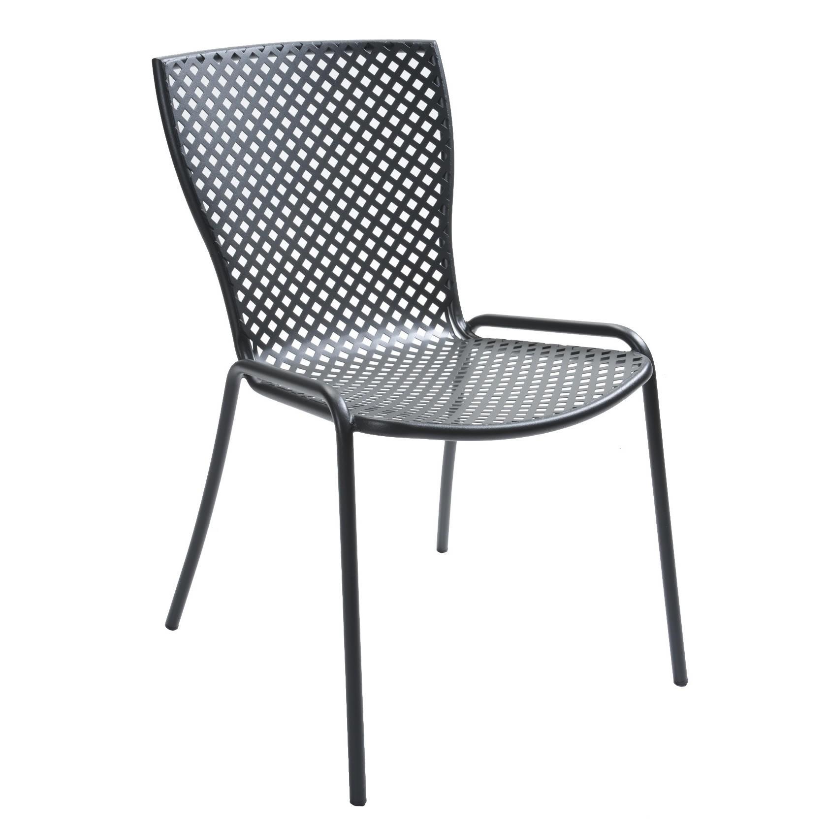 Sedia in acciaio zincato per giardino sonia 1 vendita for Sedie in acciaio