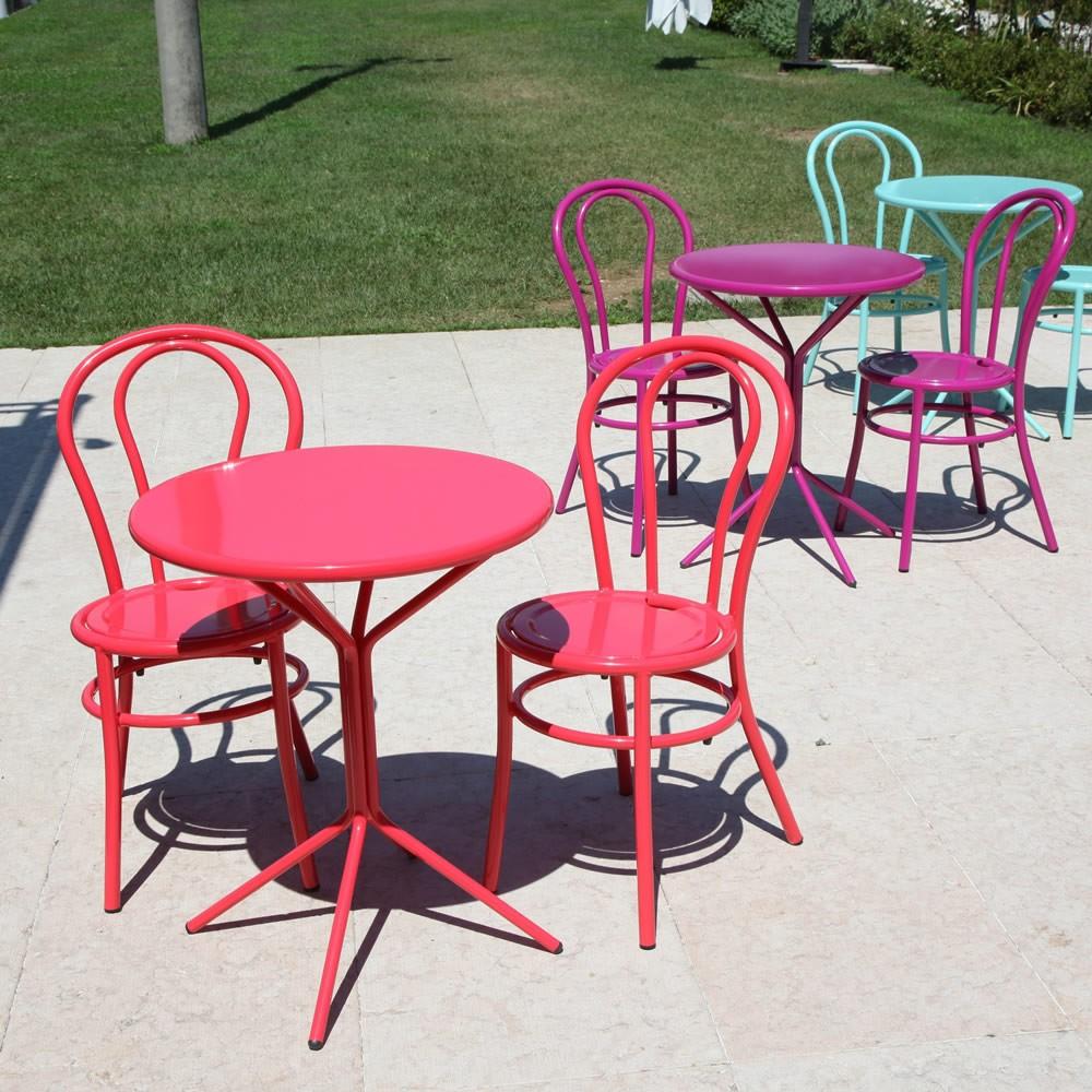 Eccezionale Sedie in ferro colorate per giardino Bistrò - Vendita Online ED34