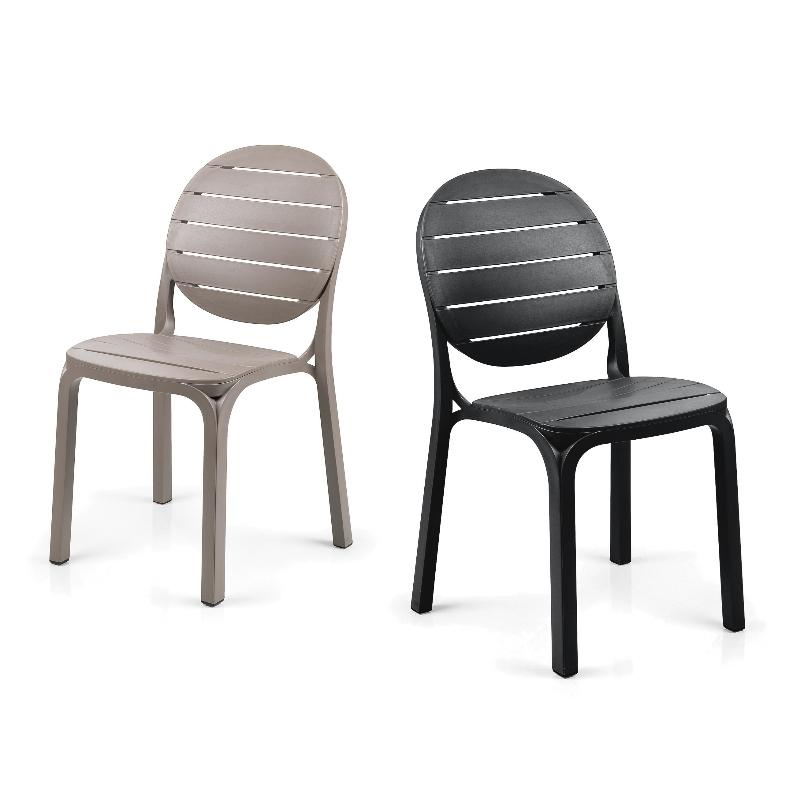 Sedia per esterni in resina erica nardi for Feltrini antirumore per sedie