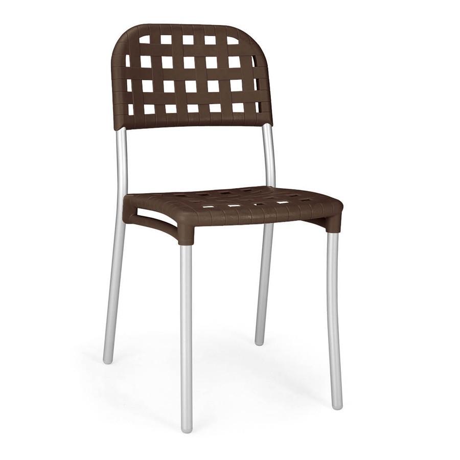 Sedia in alluminio e plastica imitazione cuoio alaska nardi for Sedie in alluminio