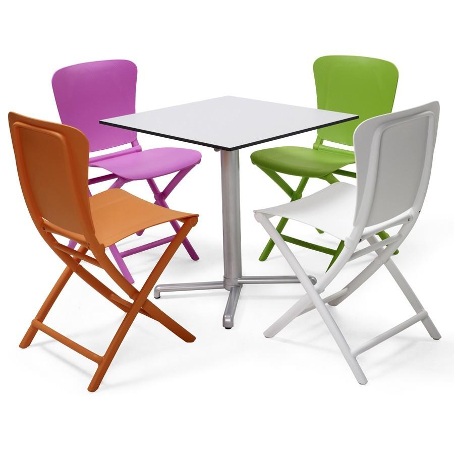 Sedie In Resina Colorate.Sedia Pieghevole Da Giardino E Terrazzo Zac Nardi