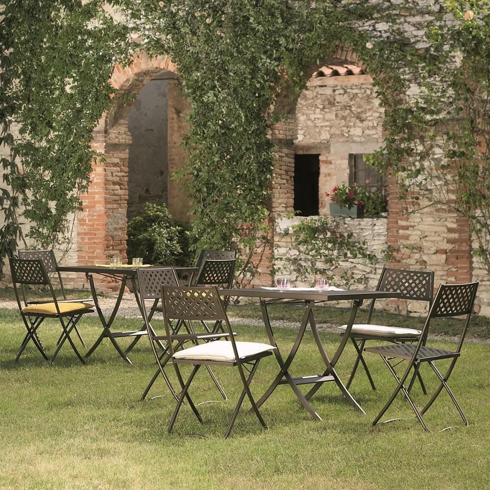 Sedie pieghevoli da giardino in metallo idee di design for Sedie design metallo