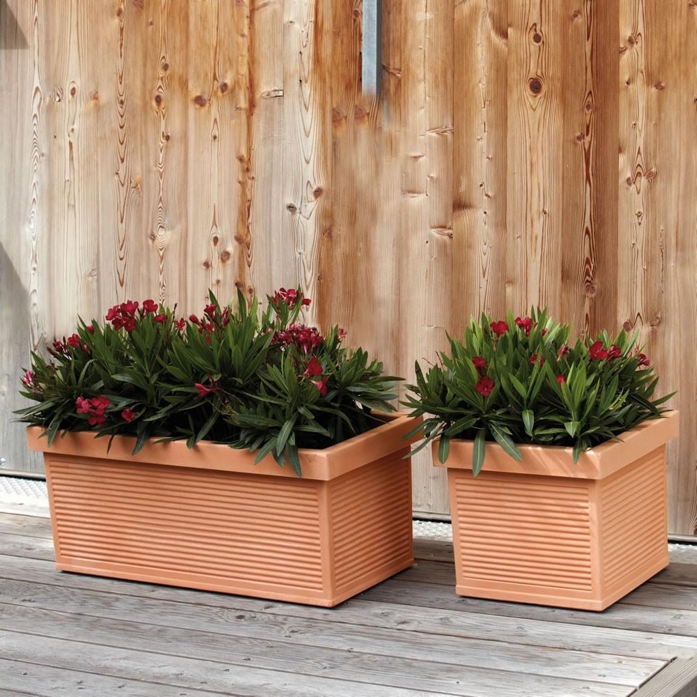 Vaso cassetta finta terracotta cotto argilla millerighe nicoli - Vasi in terracotta da giardino prezzo ...
