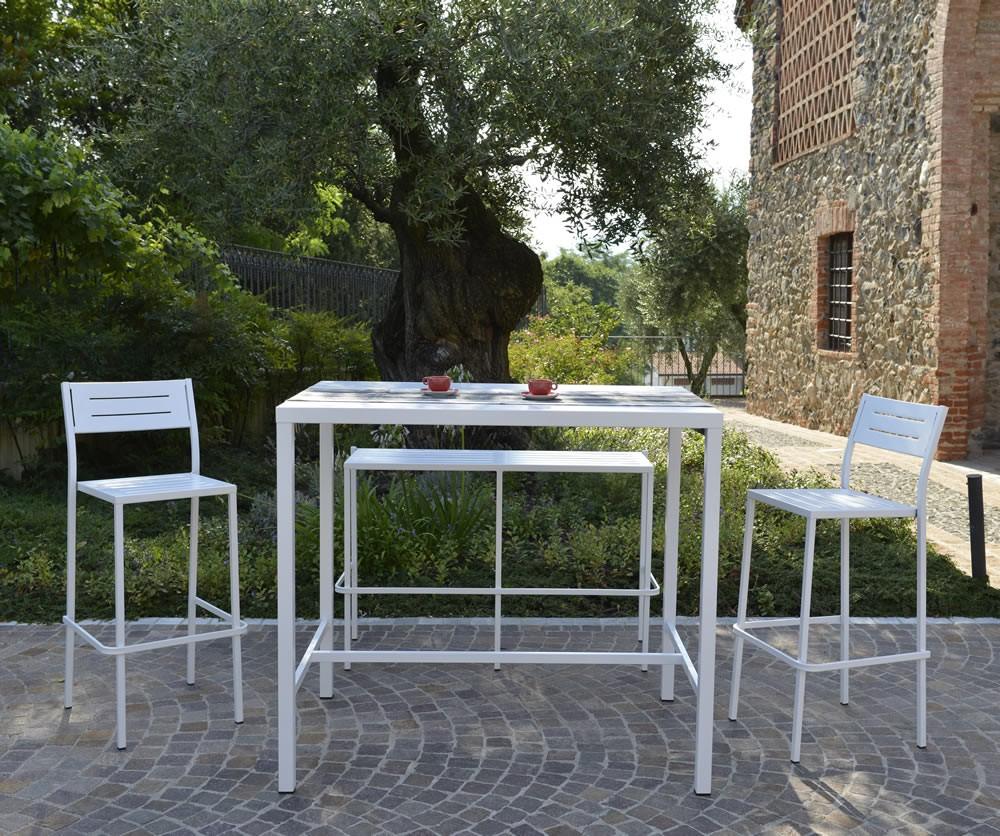 Tavolo alto in ferro per esterni e giardino vendita online for Tavolo consolle alto