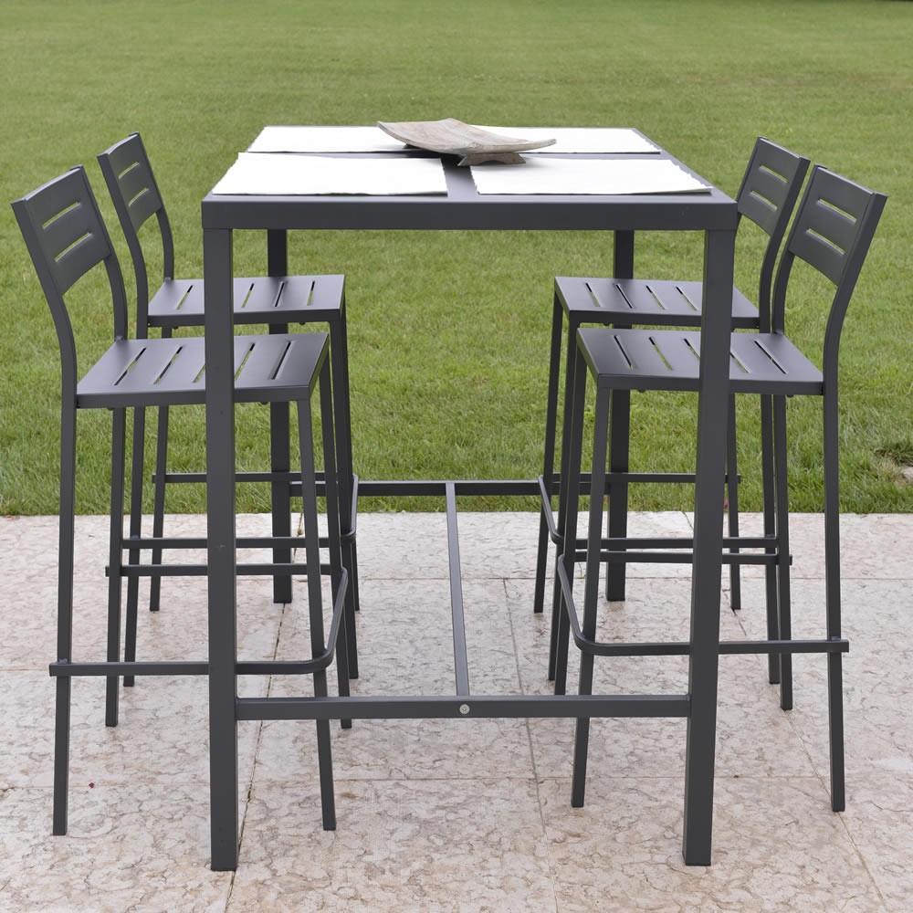 Tavolo alto in ferro per esterni e giardino vendita online - Piani per tavoli da esterno ...