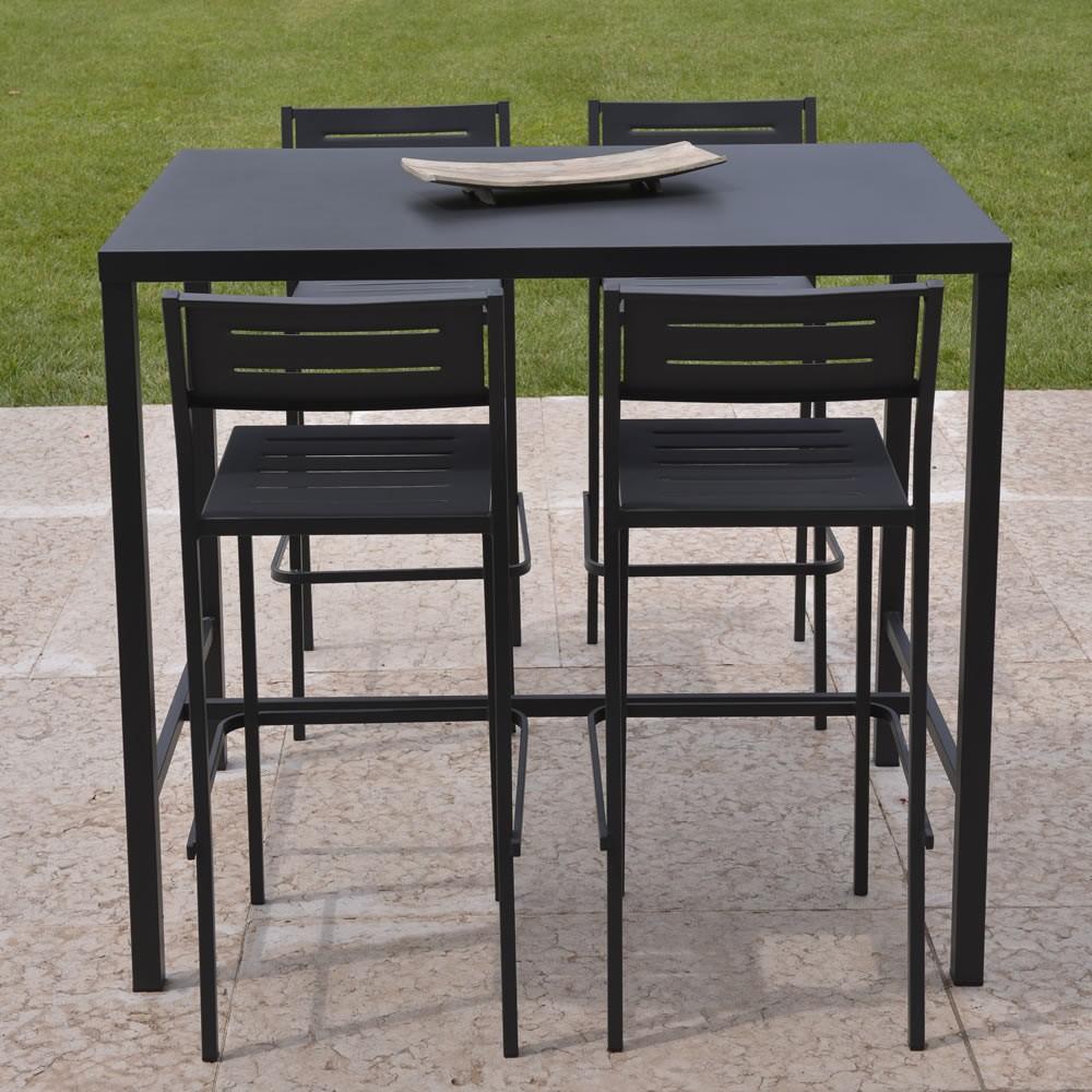 Tavolo alto in ferro per esterni e giardino vendita online for Tavolo tondo alto