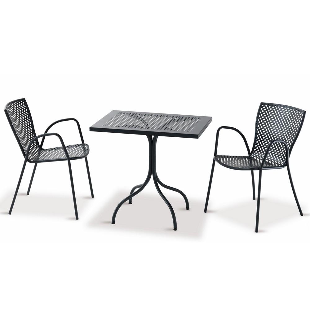 Tavolino rettangolare in ferro per giardino vendita for Tavolo giardino metallo