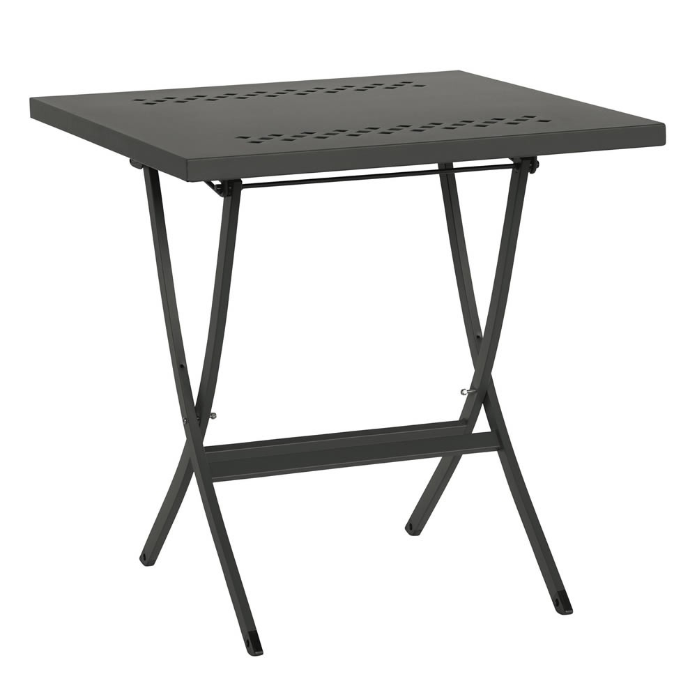 Tavolino pieghevole in ferro per esterni quadrato hermes 80 for Tavolo ferro esterno