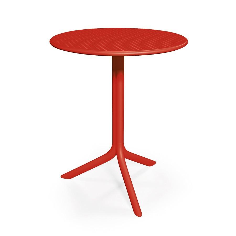 Tavolino rotondo da esterno giardino e terrazzo step nardi for Tavolino terrazzo