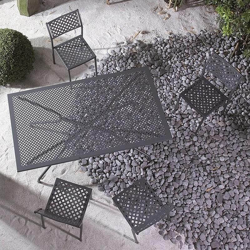Tavolo vintage in ferro per giardino estate 160 vendita for Tavolini esterni