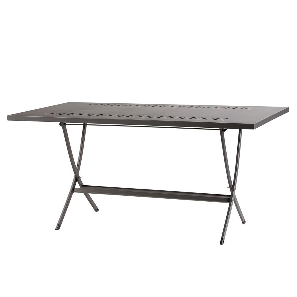 Tavoli In Metallo Da Esterno.Tavolo Pieghevole In Ferro Per Esterni Hermes 160