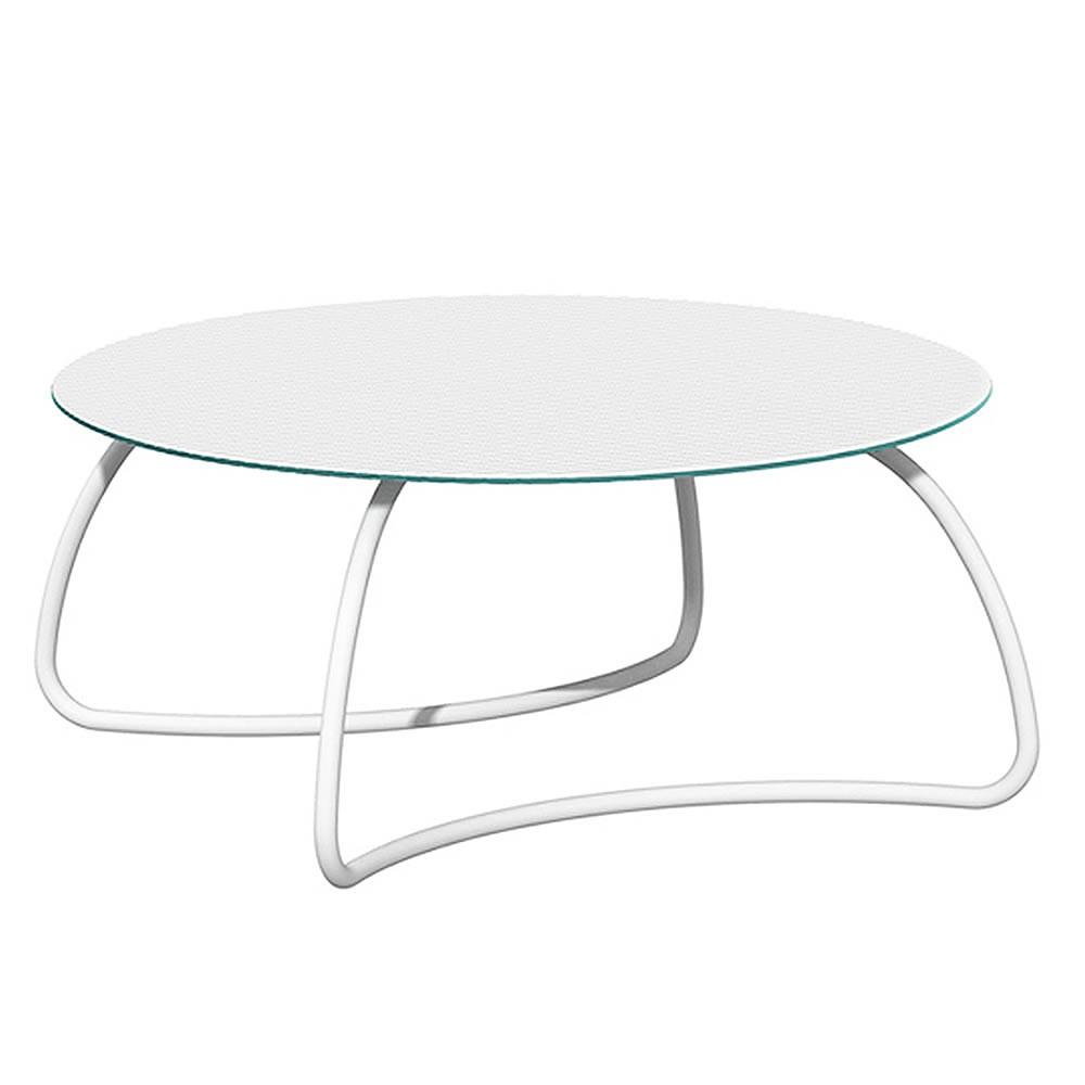 Tavolo rotondo vetro e alluminio Loto Dinner 170 - Nardi