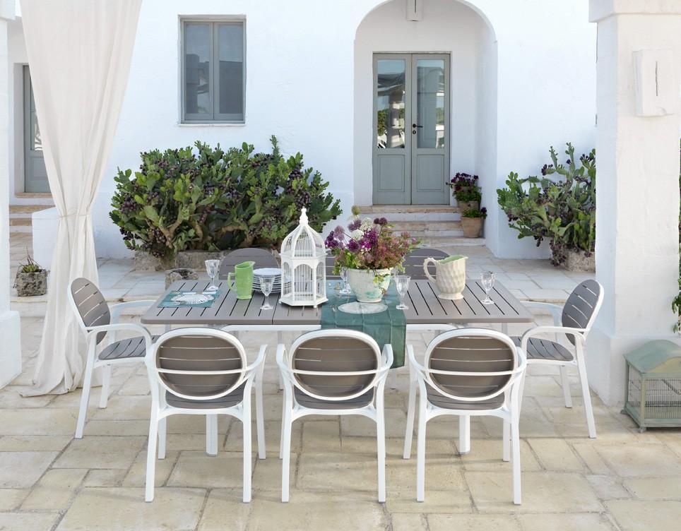 Tavoli Da Esterno Di Design.Tavolo Da Giardino Allungabile Alloro 140 Nardi