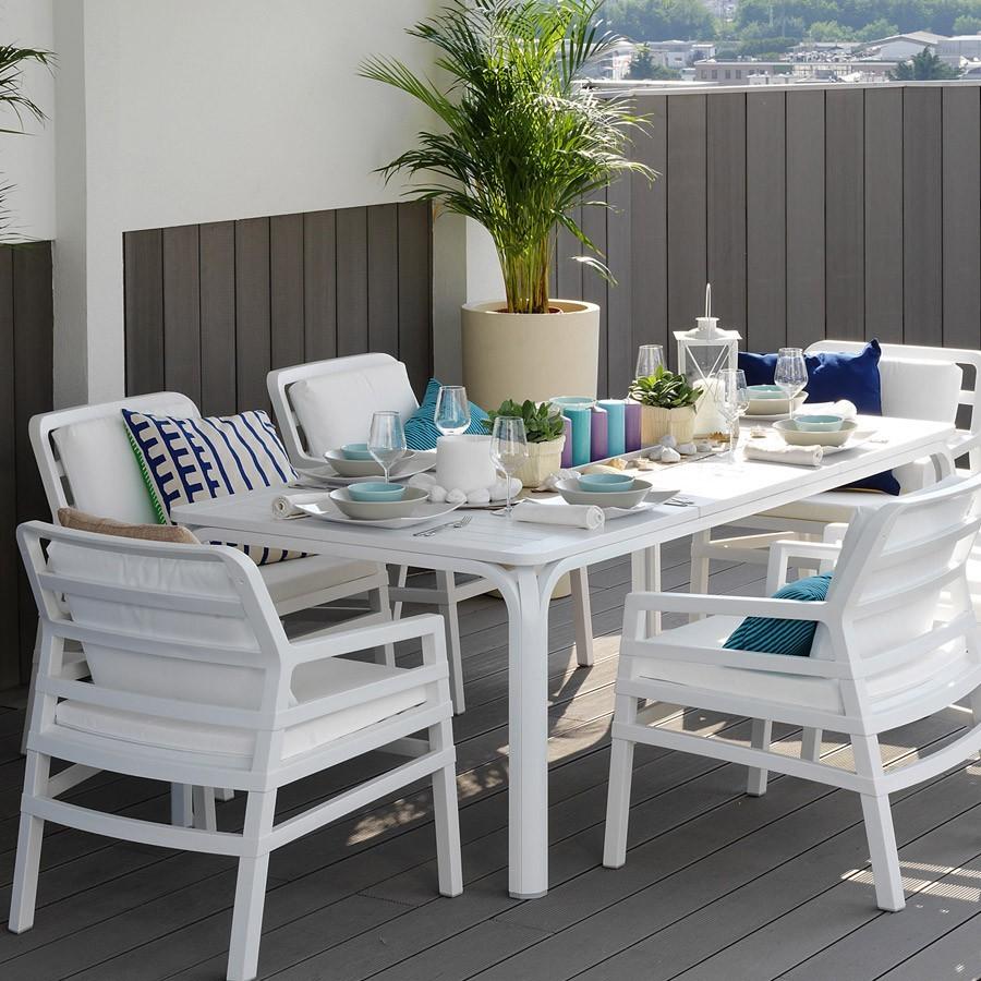 Tavolo da giardino allungabile alloro 210 280 nardi - Tavolo da terrazzo ...