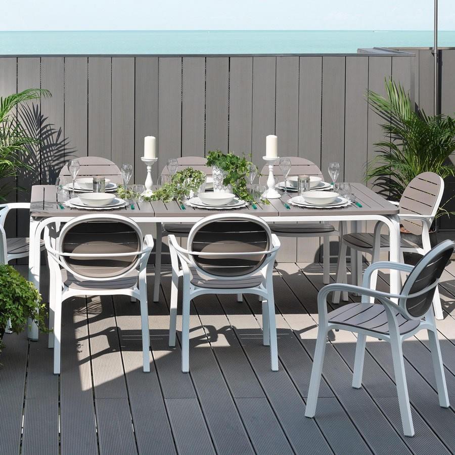 Tavolo da giardino allungabile alloro 210 280 nardi for Arredo da giardino in alluminio