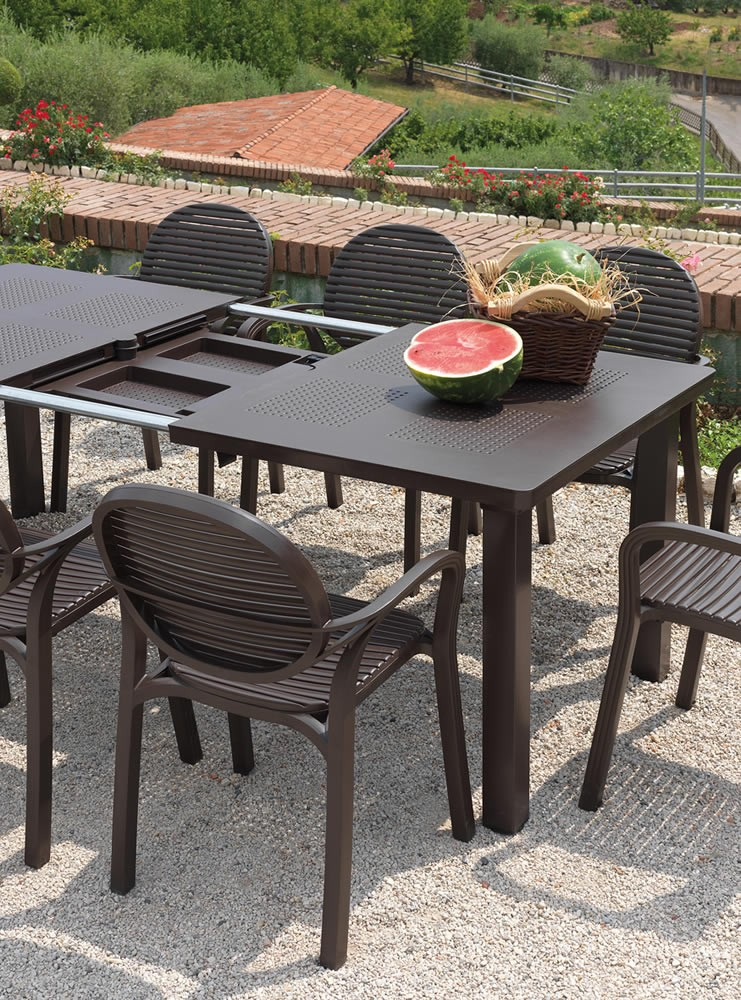 Tavolo da giardino allungabile levante nardi for Offerte tavoli e sedie da esterno