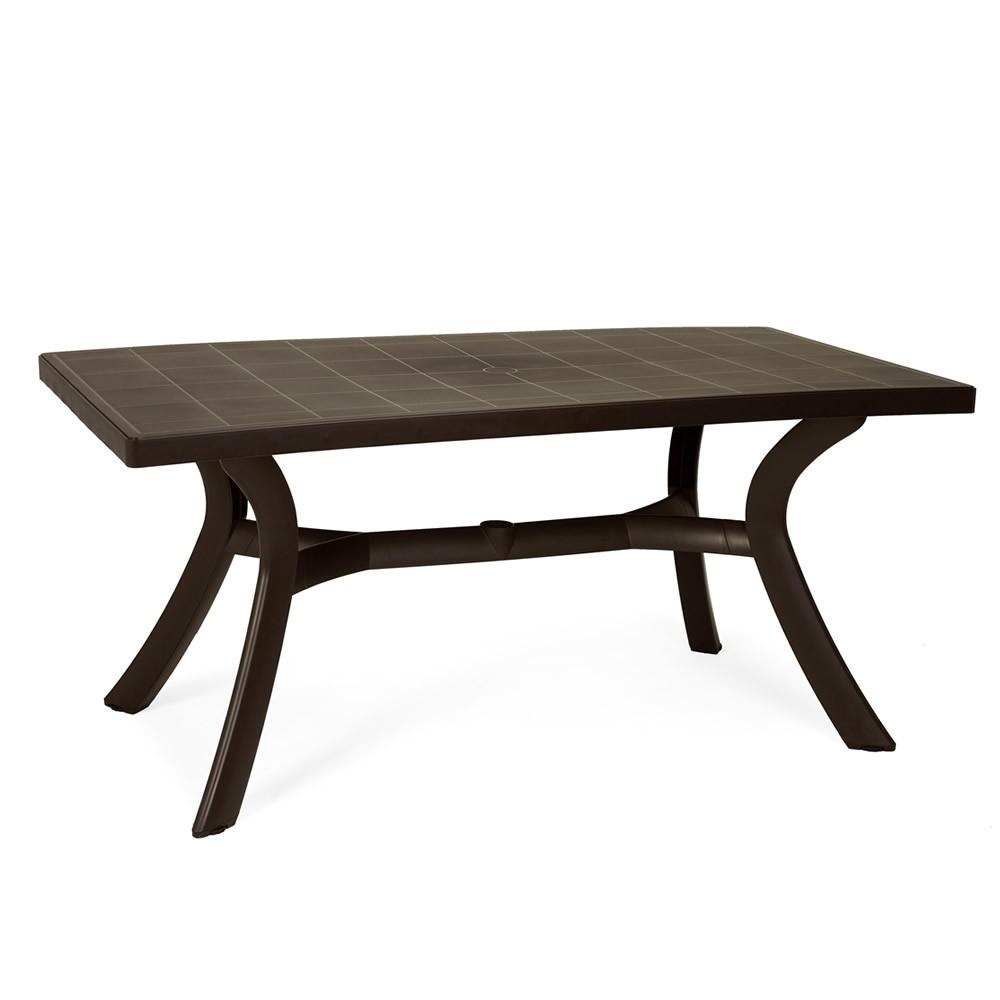 Tavolo rettangolare da giardino in plastica toscana 160 - Tavolo di plastica da giardino ...