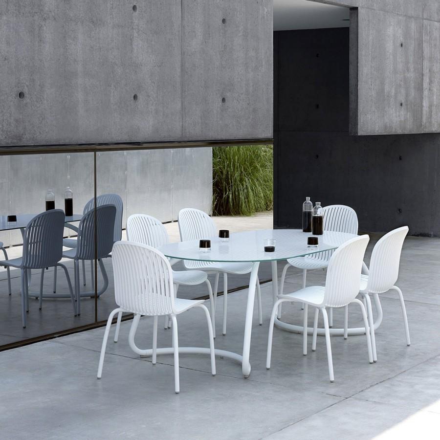 Sedia per esterno in alluminio ninfea dinner nardi for Sedie in alluminio