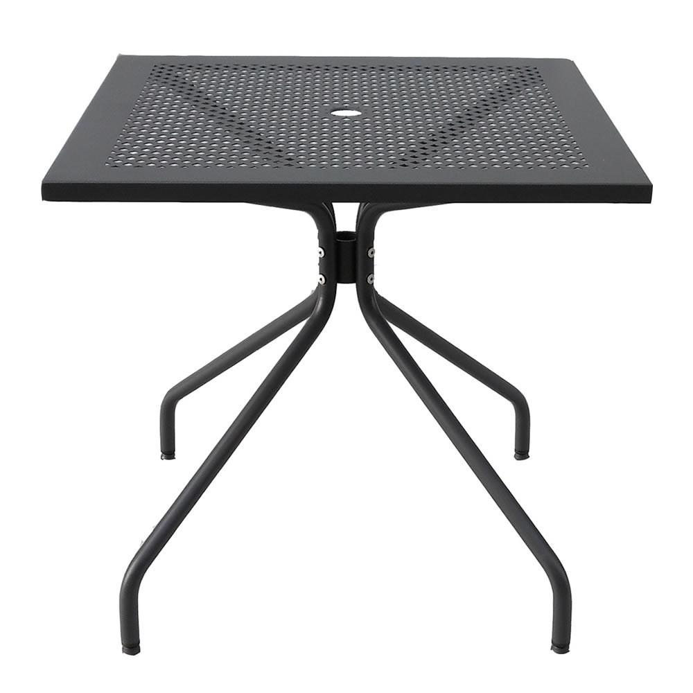 Tavolo quadrato in ferro per giardino estate 80 vendita for Tavolo quadrato