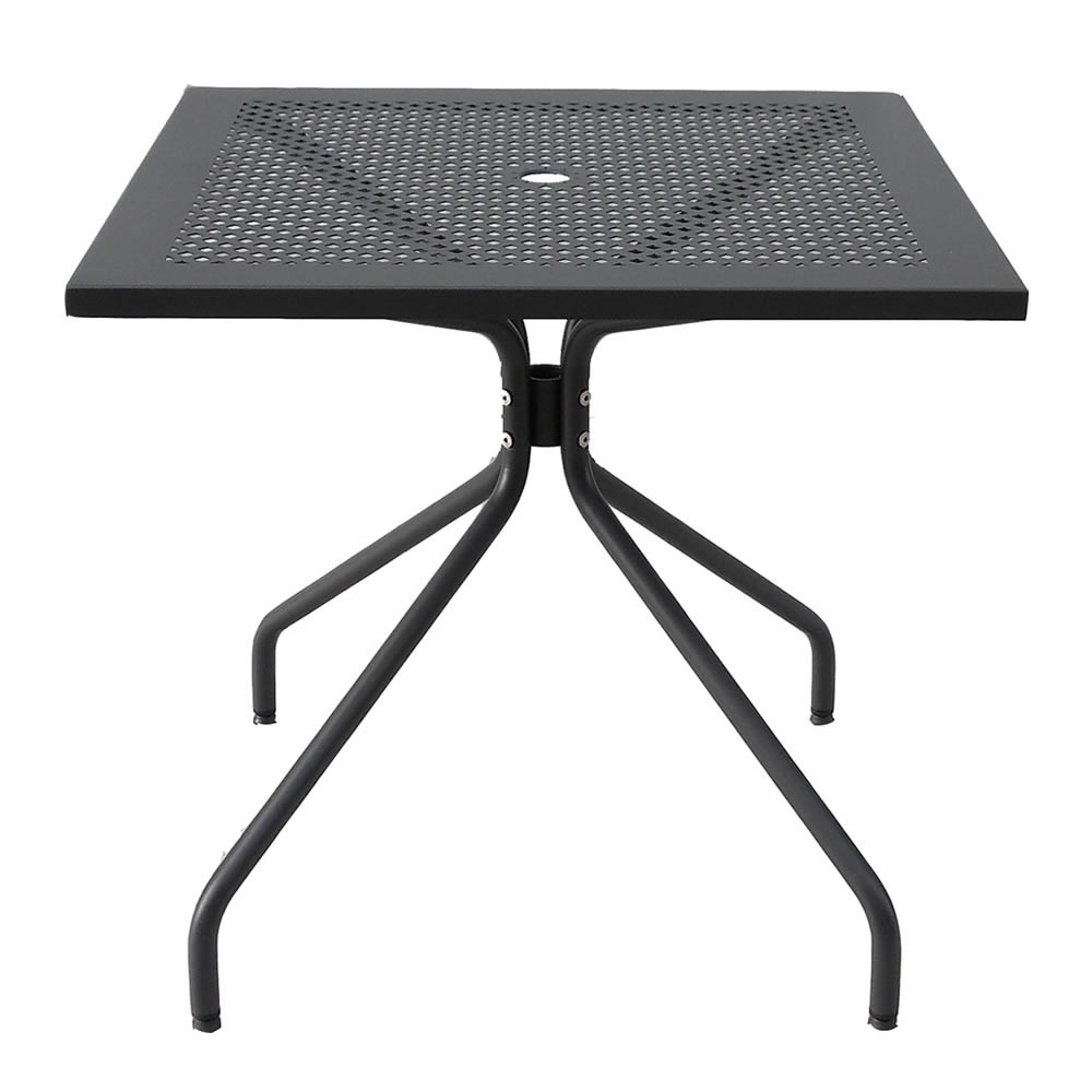 Tavolo quadrato in ferro per giardino estate 80 vendita for Tavolo giardino metallo