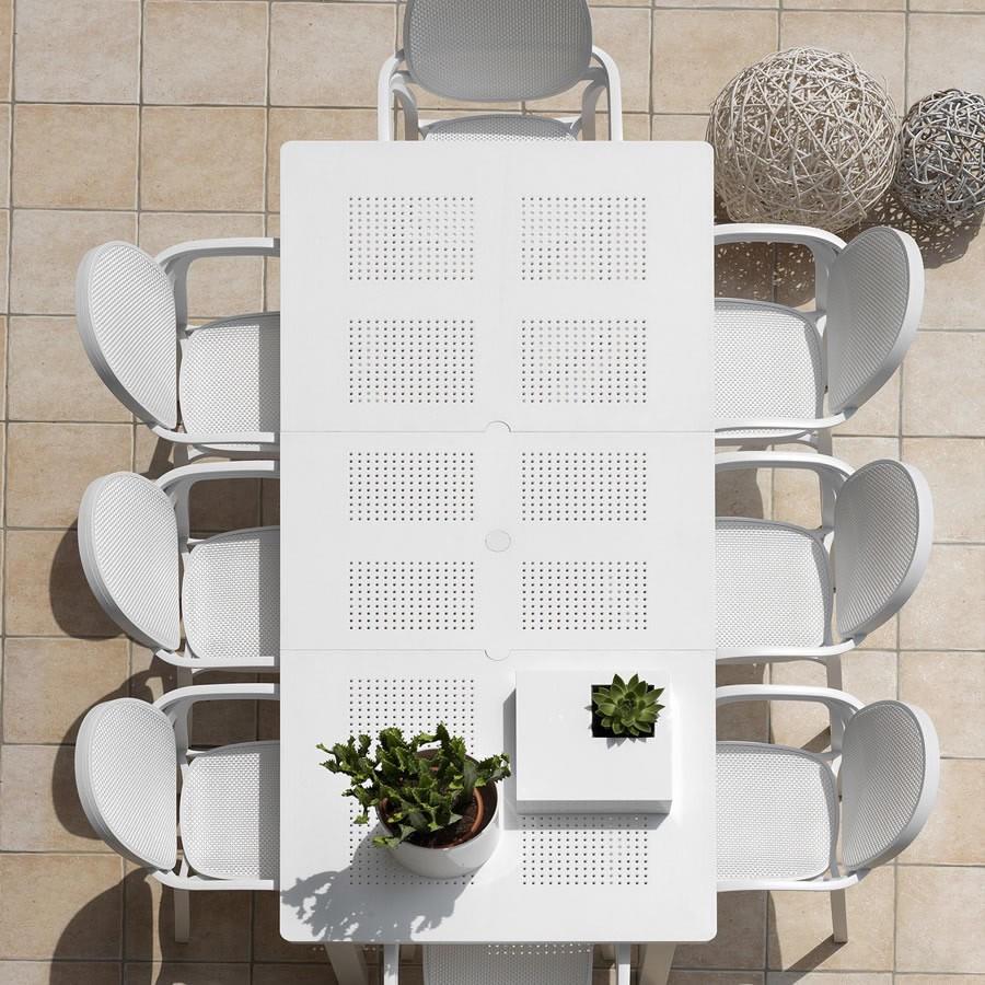 Tavolo da giardino allungabile levante nardi for Arredo giardino legno bianco