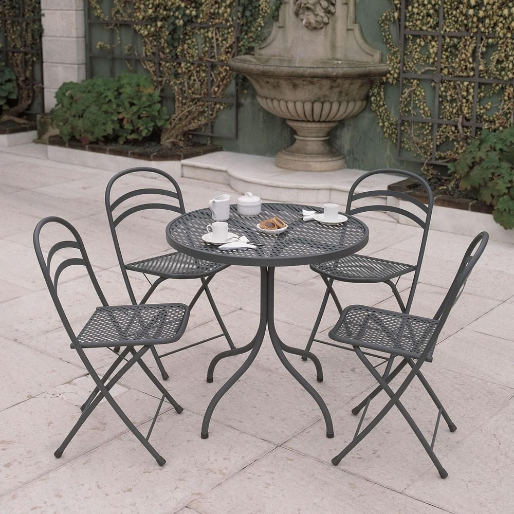 Sedie pieghevoli in ferro vendita online for Tavolo giardino metallo