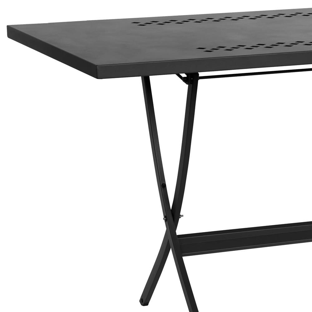 Tavolino pieghevole in ferro per esterni quadrato Hermes 80