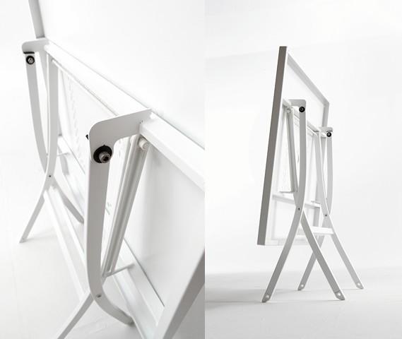 Tavolo pieghevole in metallo per esterni hermes 120 - Tavolo pieghevole con sedie ...