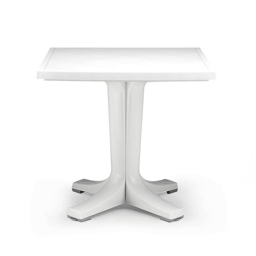 Tavolo Giardino Plastica Bianco.Tavolo Tondo Da Giardino Toscana 100 Nardi