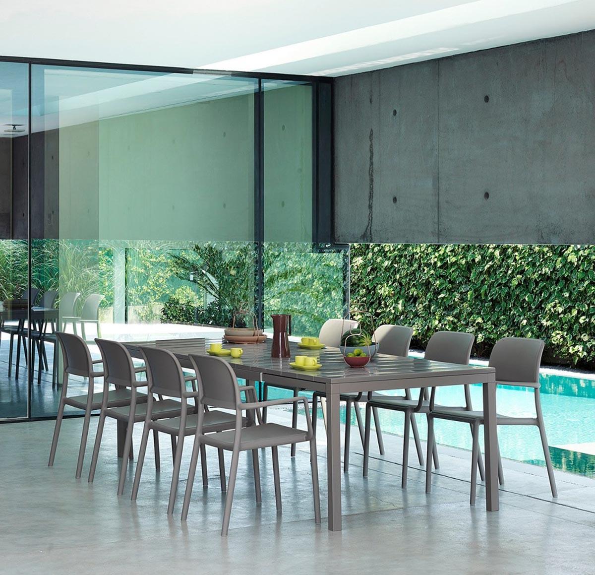 Tavolo da giardino allungabile rio nardi in sconto for Tavolo allungabile giardino