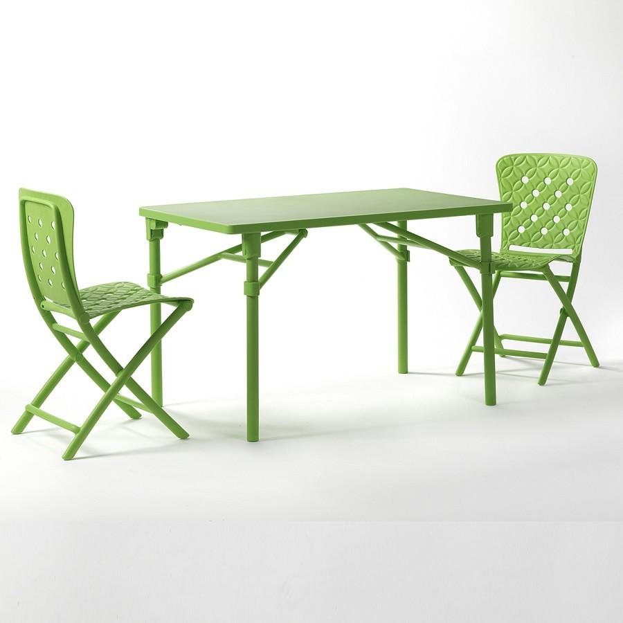 tavolo e sedie pieghevoli da giardino ed esterno zic zac