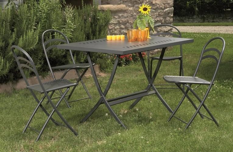 Tavolo pieghevole in ferro per giardino hermes 140 for Tavolo e sedie pieghevoli