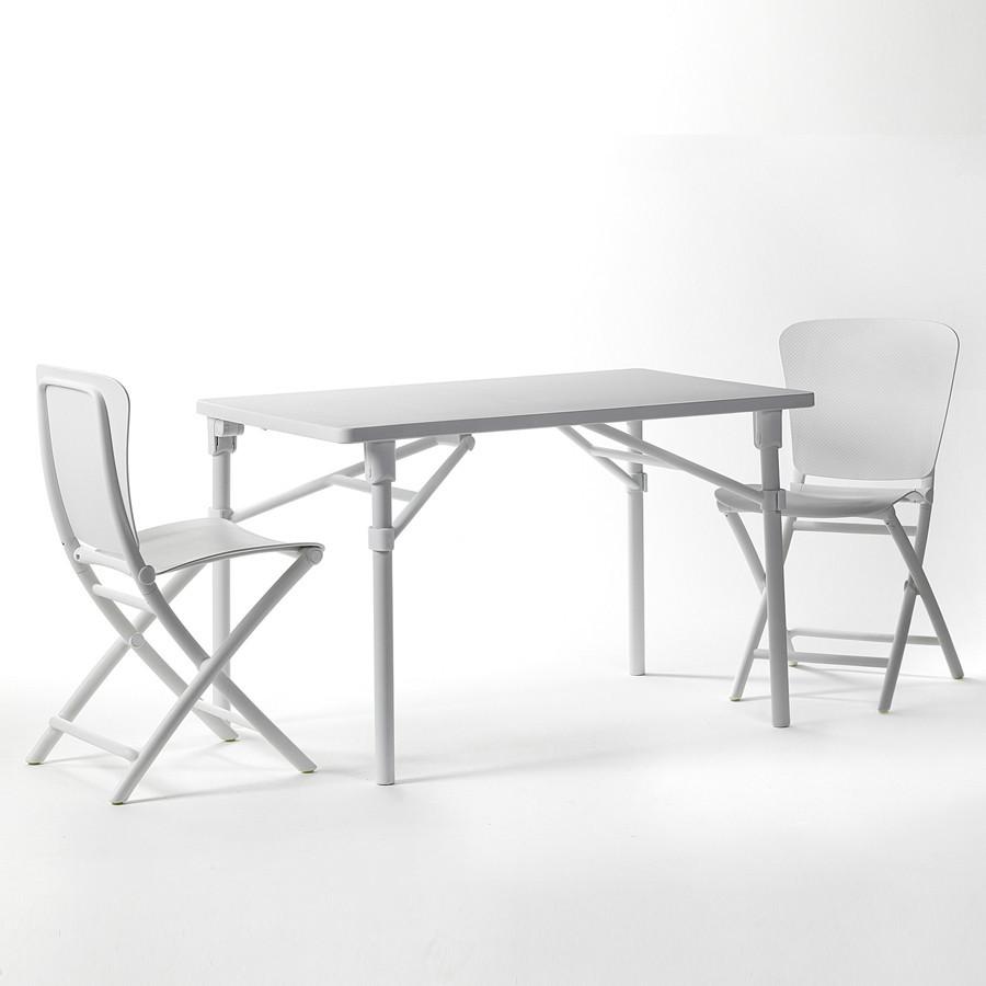 Tavolo e sedie pieghevoli da giardino e terrazzo zic zac - Sedie per tavolo fratino ...