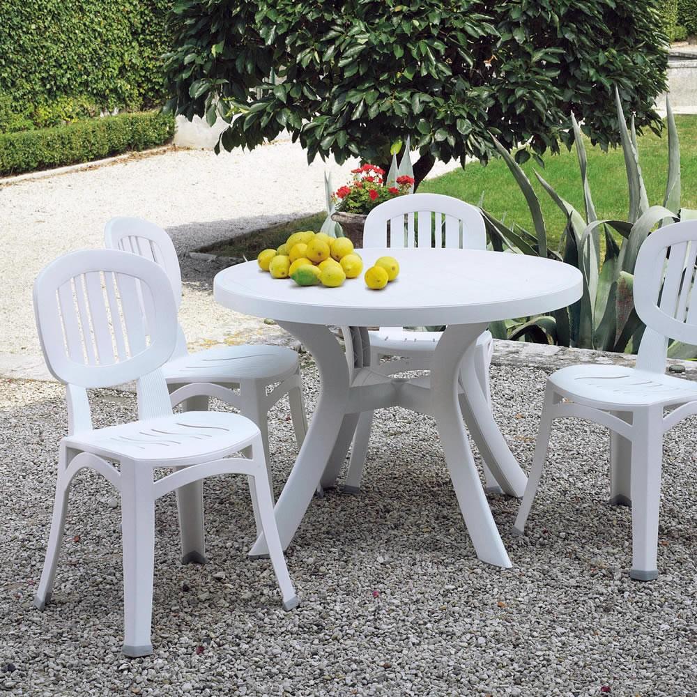 Tavolo Sedie Giardino Plastica.Sedia Per Esterno In Plastica Elba Nard