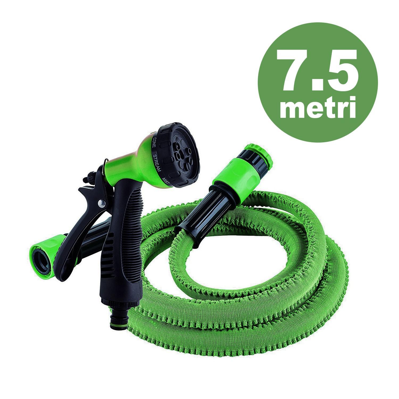 Tubo da irrigazione estensibile 7 5 metrii rolly by colortap for Tubo giardino 5 8