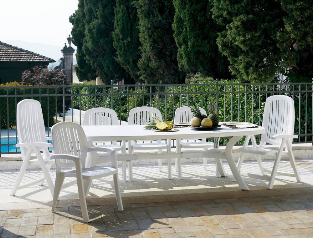 Tavolo rettangolare allungabile da giardino toscana 250 for Tavolo 10 persone