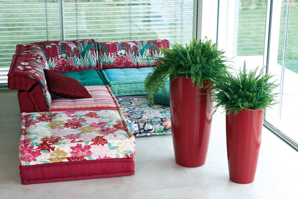 Vaso di design alto talos gloss nicoli - Vasi da interno alti ...