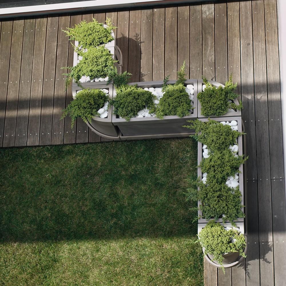 Vaso a parete per piante themis nicoli - Vasi in giardino ...