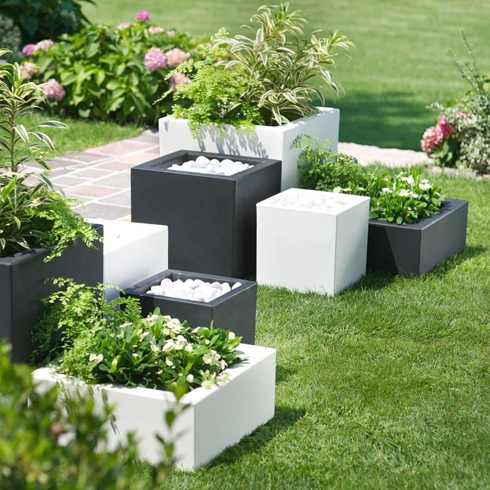 Vaso quadrato per giardino schio cubo - Offerte vasi da giardino ...