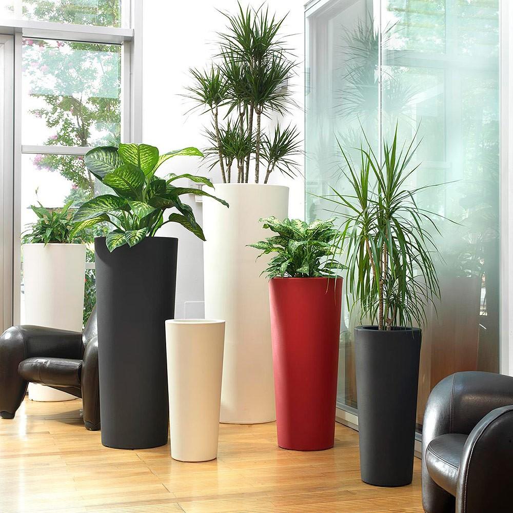 Vaso conico alto per esterno e giardino schio for Vasi moderni da interno