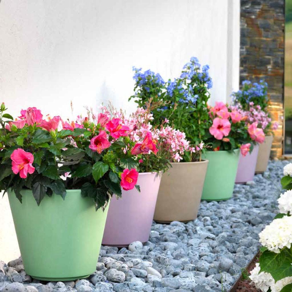 Vaso da esterno ribeira - Vasi colorati esterno ...