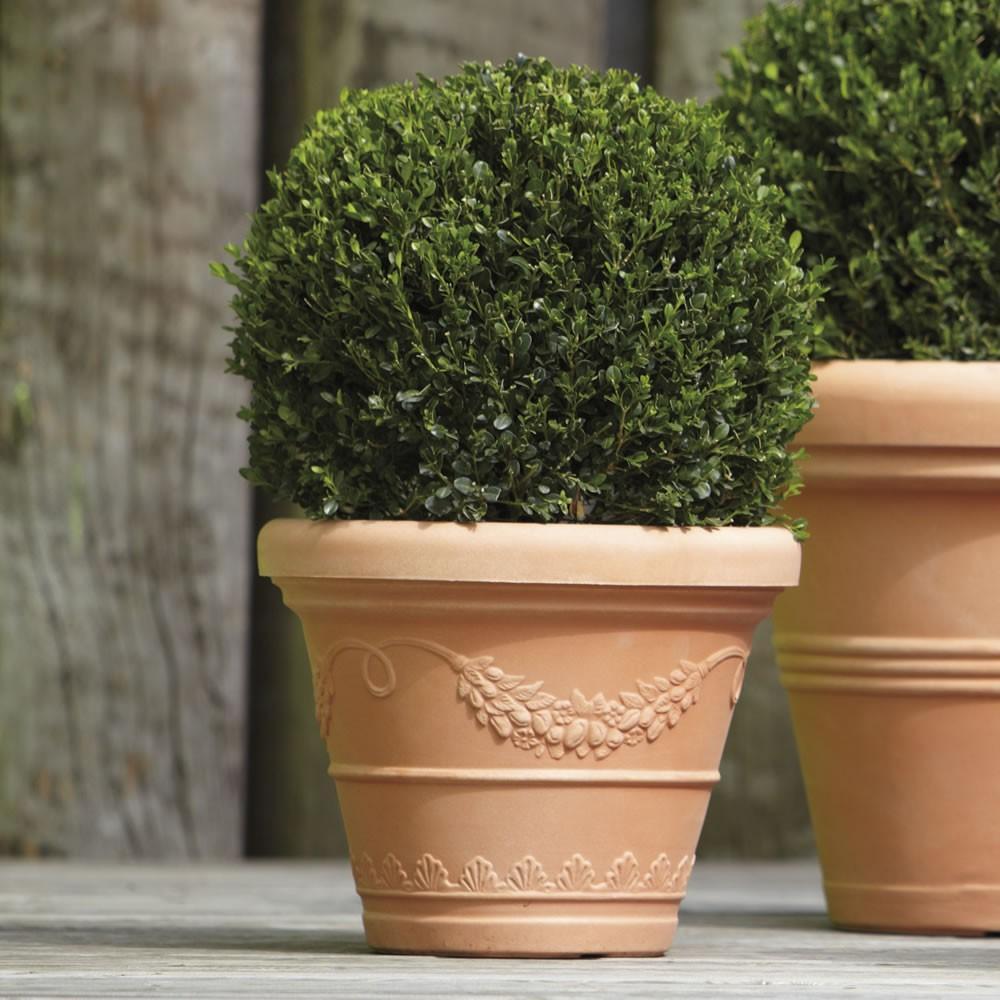 Vaso festonato classico in resina doppiobordo nicoli - Vasi ornamentali da interno ...