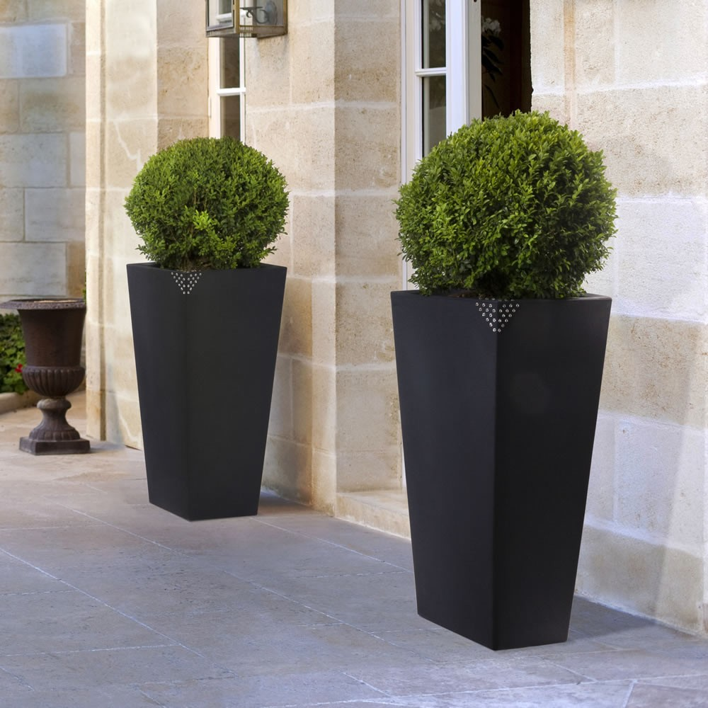 Vaso in plastica grande con finitura opaca eros nicoli for Piante da vaso per esterno