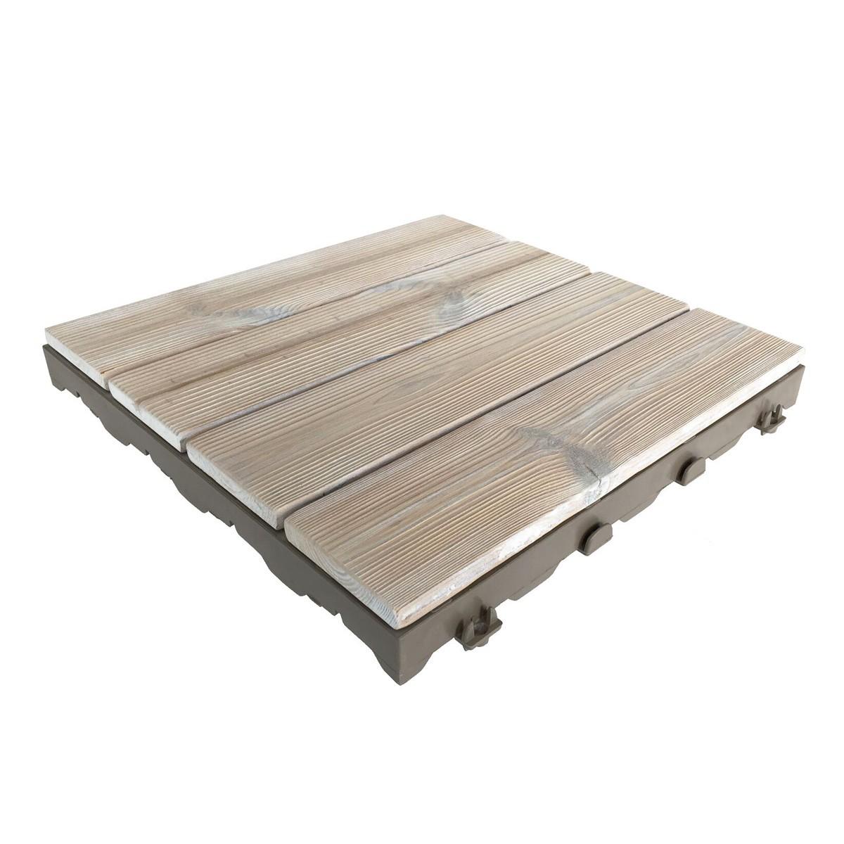 Pavimenti In Legno Per Terrazzi woodplate thermowood bianco | piastrella in legno