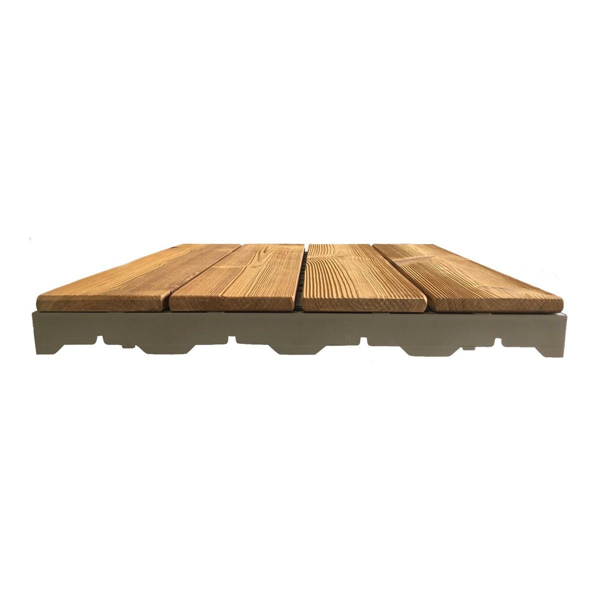 Piastrelle Di Legno Per Esterno.Woodplate Thermowood Naturale Piastrella In Legno