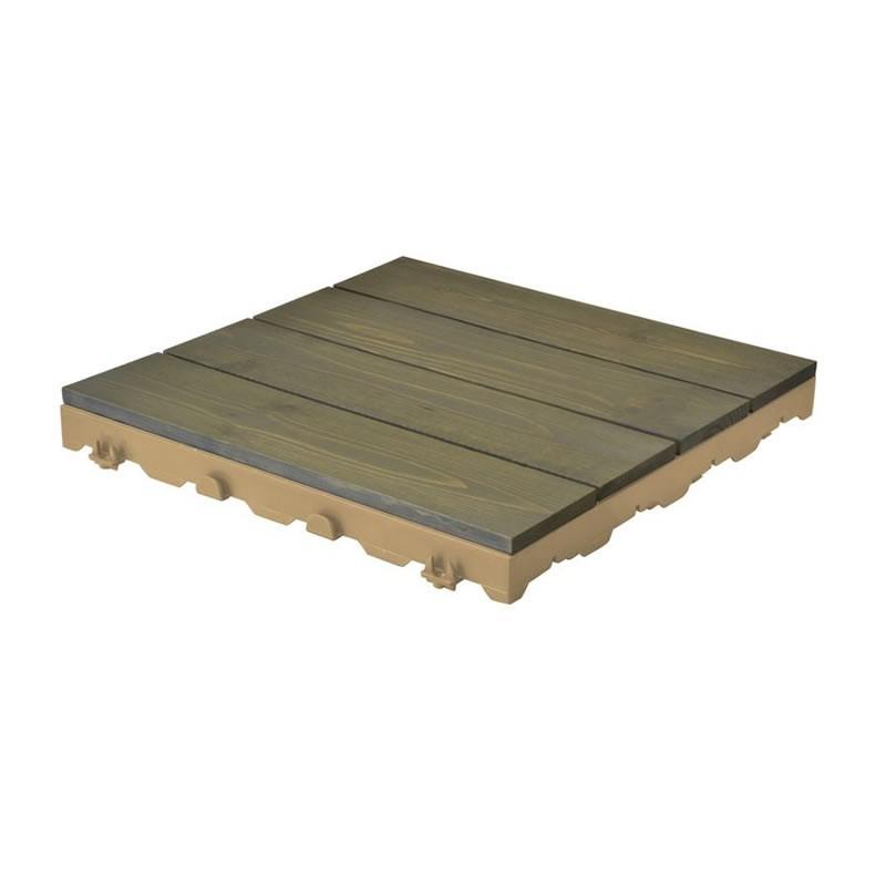 Mattonelle in legno per pavimenti esterni Woodplate Pino grigio