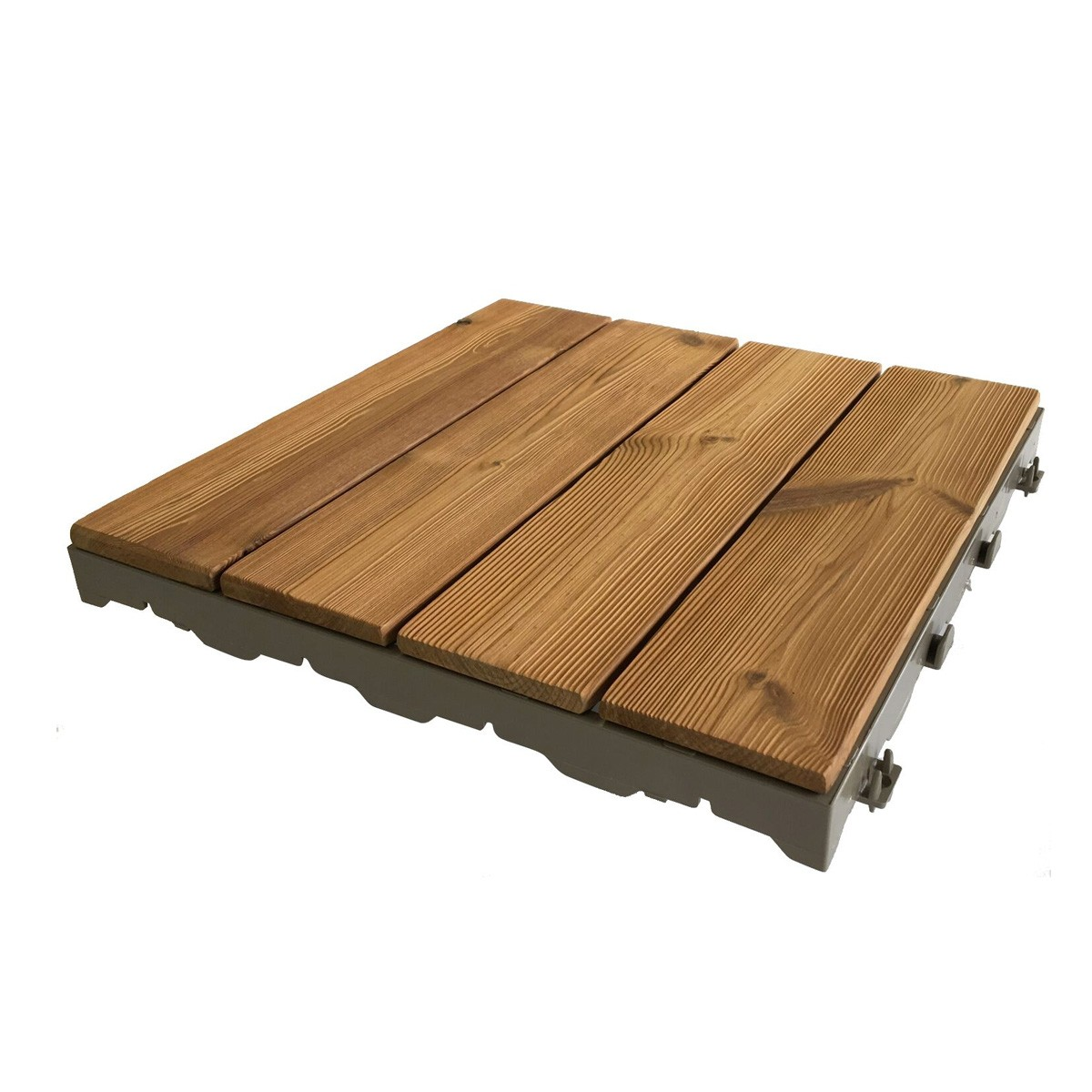 Pavimento A Incastro Per Esterni woodplate thermowood naturale | piastrella in legno