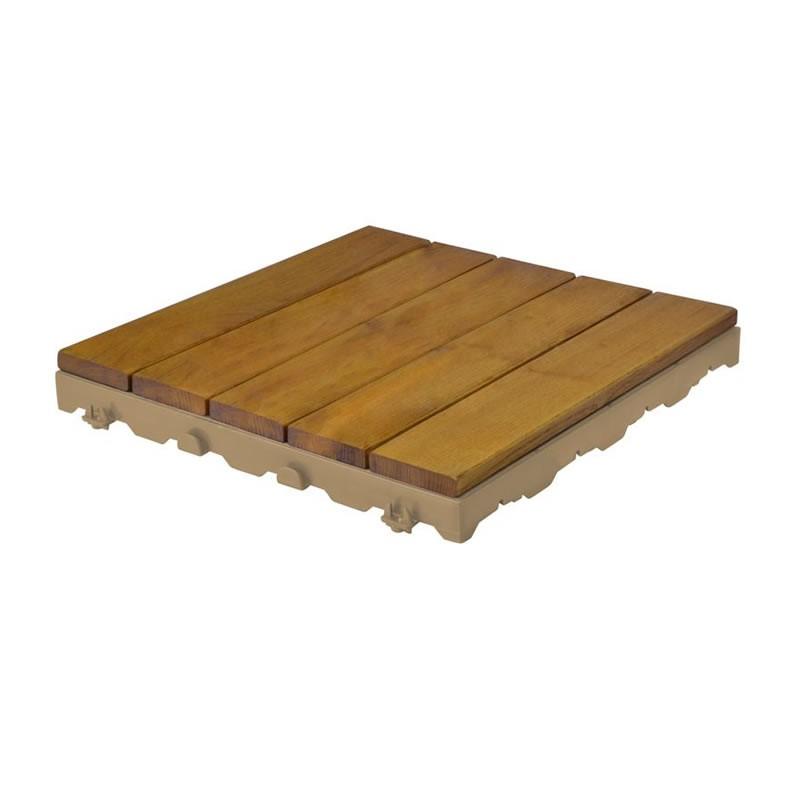 Mattonelle in legno per pavimenti esterni woodplate - Legno resistente per esterni ...