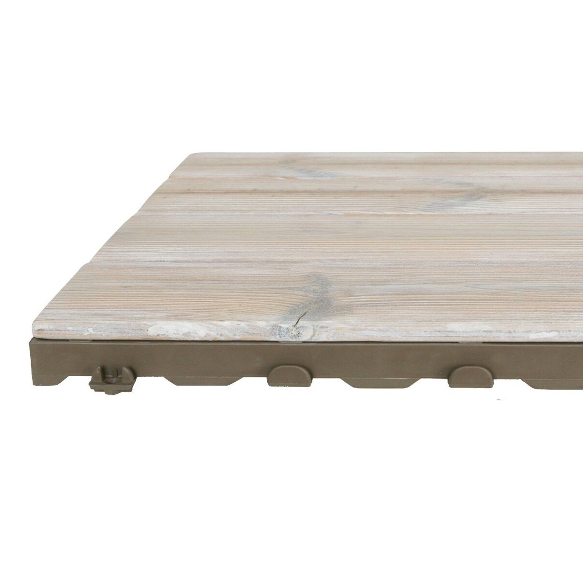 Piastrelle Da Esterno A Incastro woodplate thermowood bianco   piastrella in legno